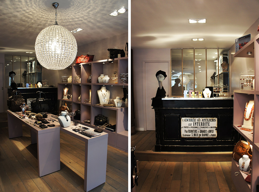 Agencement boutique karizen yvelines christiansen design for Boutique decoration interieur