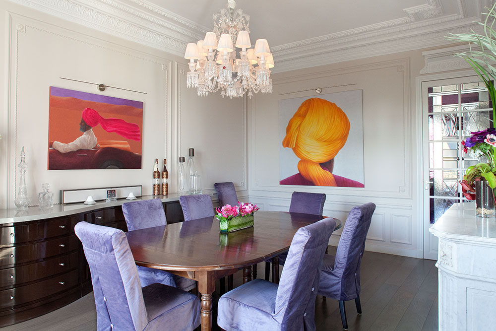 Appartement haussmannien paris jardin luxembourg for Cuisine design appartement haussmannien
