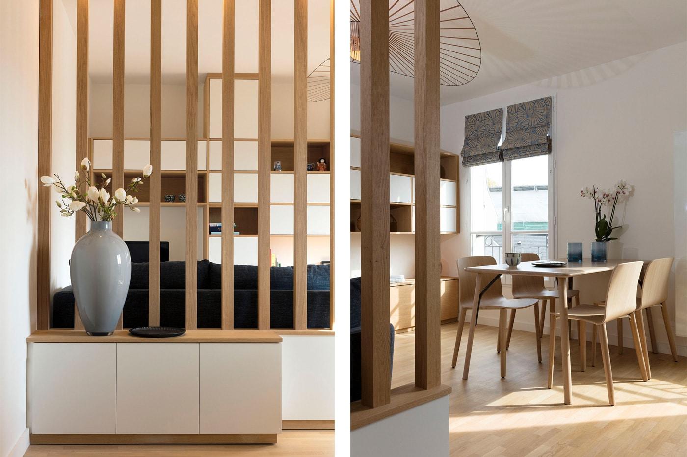 Appartement décoration scandinave japonais - Région parisienne