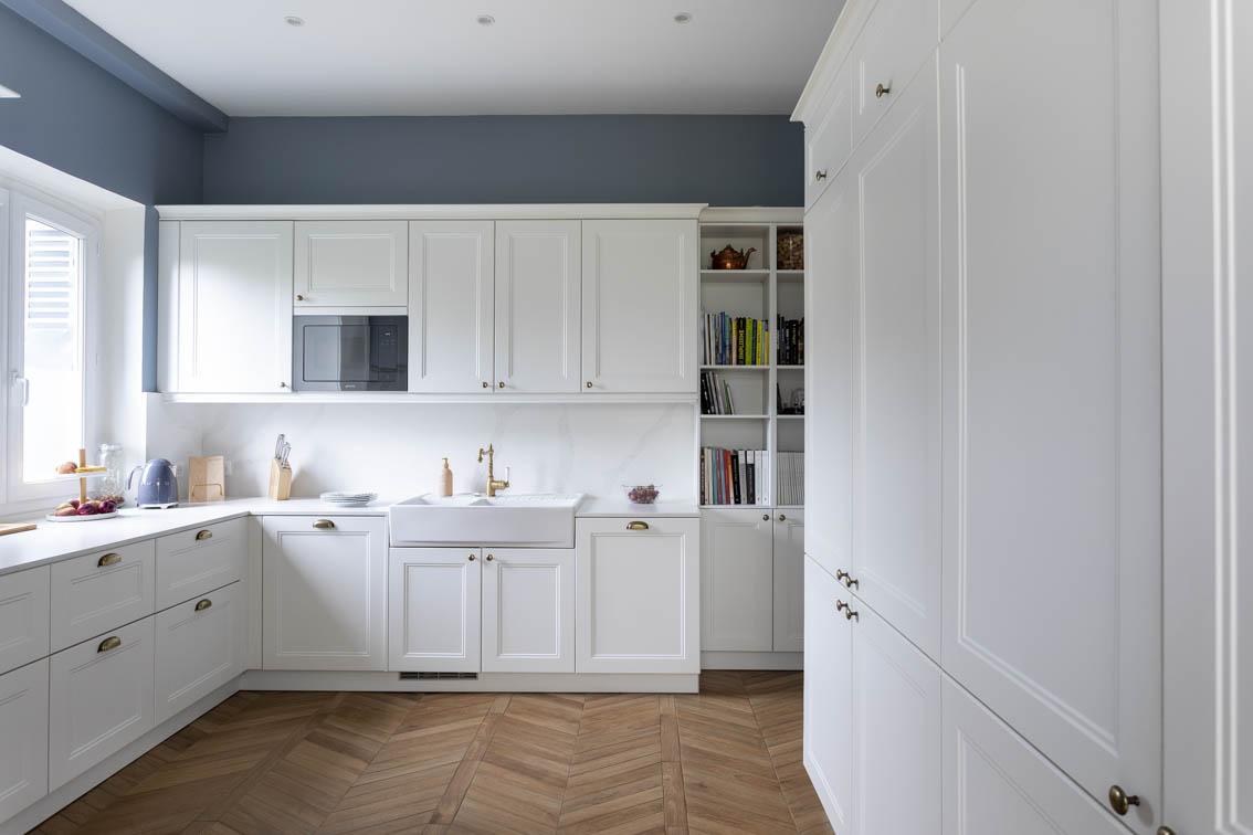 Belle perspective avec une sol effet batons rompus, by Christiansen Design, Architecte d'intérieur et Décorateur à Paris, Yvelines, Hauts de Seine, Provence